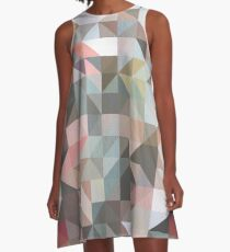 Earthy Geometry A-Line Dress