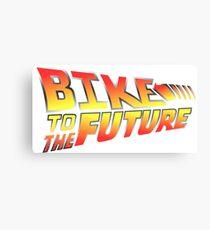 Bike to the future Canvas Print