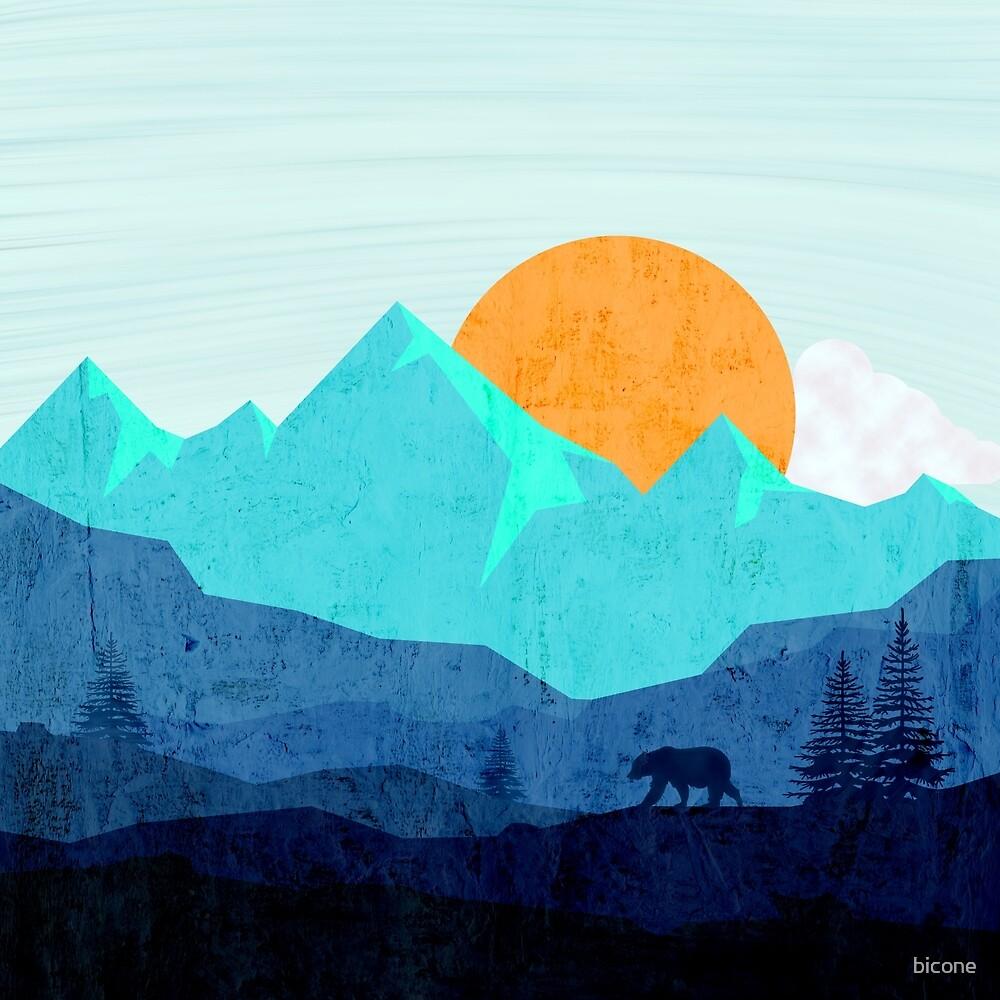 Wild mountain dusk landscape by bicone