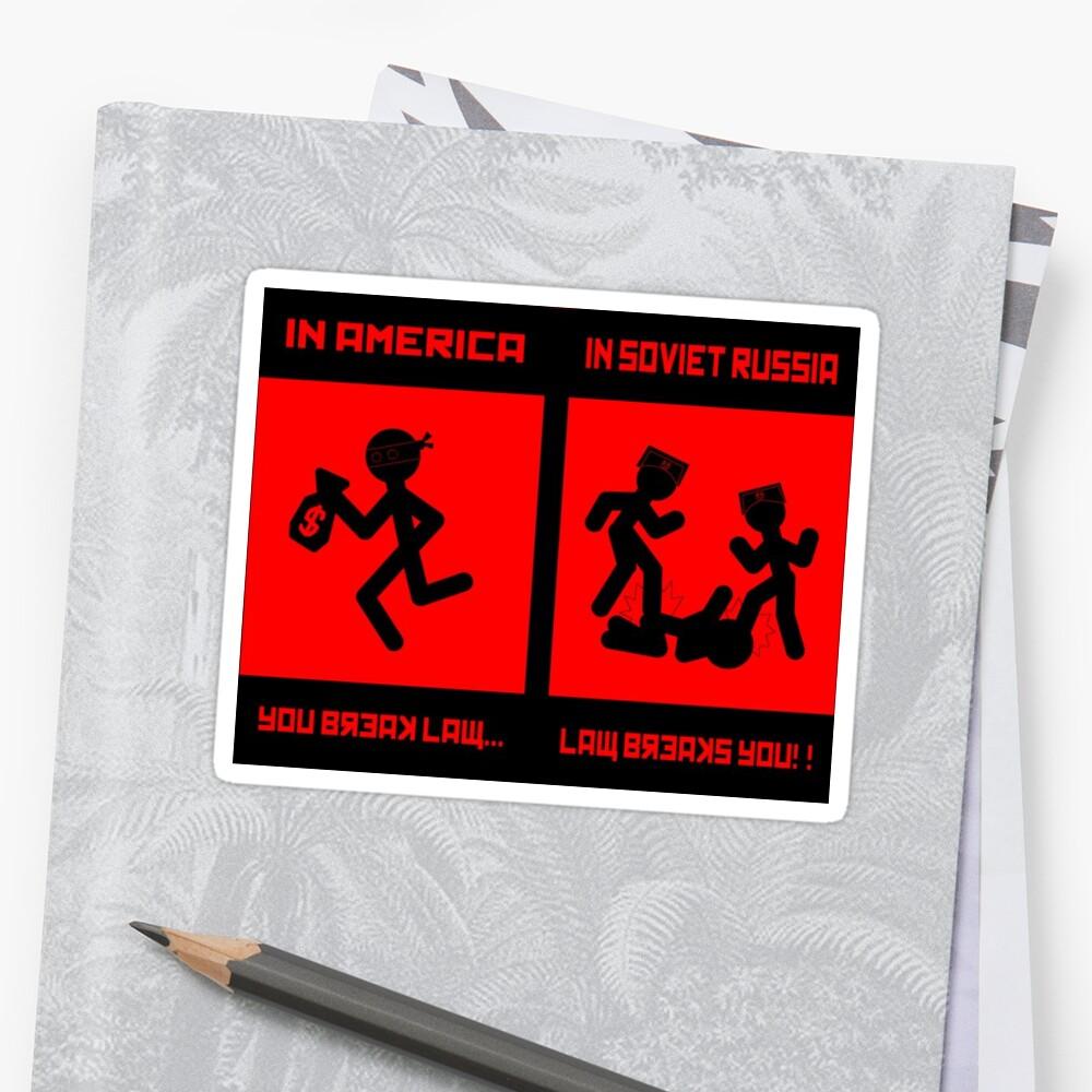 Funny meme soviet russia | Sticker