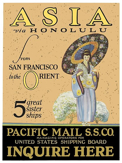 Asia via Honolulu from San Francisco to the Orient by vintagetravel