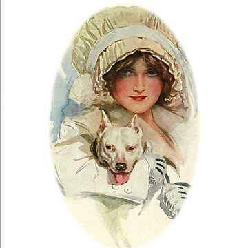 'PALS' Victorian Girl & BULL TERRIER Dog by toppco