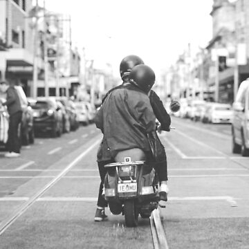 Scooter on Smith Street by melbournedesign