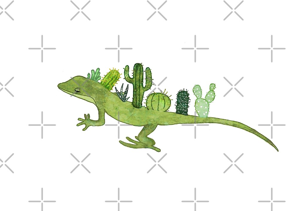 Cactus Gecko by katherineblower