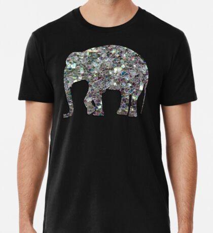 Sparkly colourful silver mosaic Elephant Men's Premium T-Shirt
