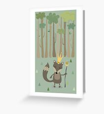 The King of the Wood Greeting Card
