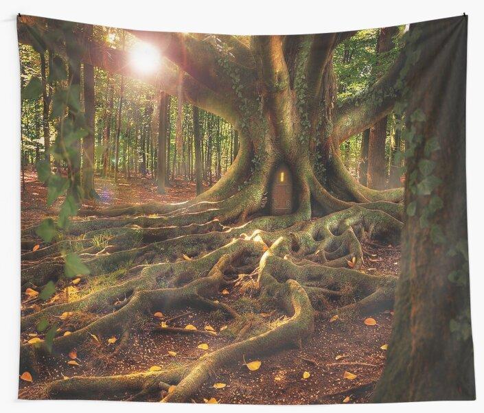 Treehouse, Fairy Forest by longdistgramma