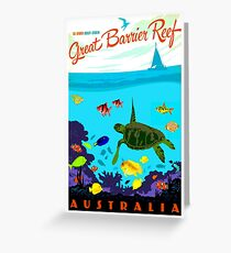 AUSTRALIA : Great Barrier Coral Reef Print Greeting Card