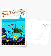 AUSTRALIA : Great Barrier Coral Reef Print Postcards