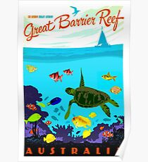 AUSTRALIA : Great Barrier Coral Reef Print Poster