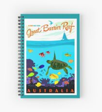AUSTRALIA : Great Barrier Coral Reef Print Spiral Notebook