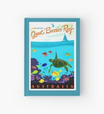 AUSTRALIA : Great Barrier Coral Reef Print Hardcover Journal
