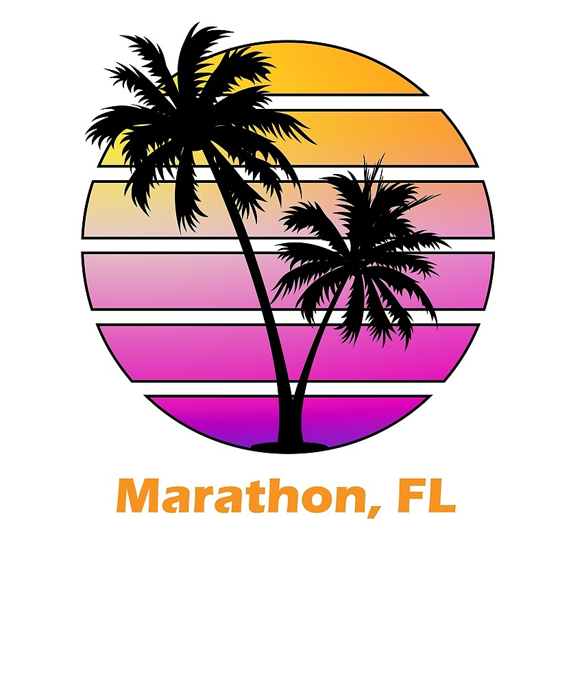 Vintage Marathon Florida Palm Tree Design by BrobocopPrime