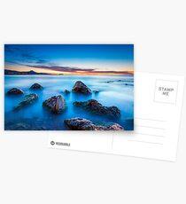 Wet rocks at dawn long exposure Greeting Card