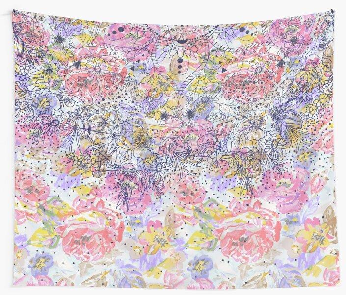 Elegant mandala confetti and watercolor floral by InovArtS
