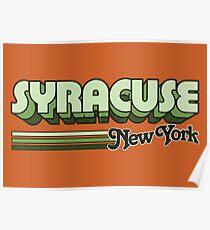 Syrakus, NY | Stadt Streifen Poster