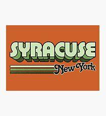 Syracuse, NY   City Stripes Photographic Print