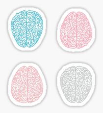 Brainy Pastel Pattern Sticker