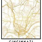 CINCINNATI OHIO CITY STREET MAP ART by deificusArt