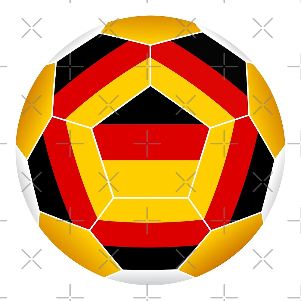 Soccer ball with German flag by siloto