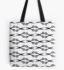 Black Scissors Pattern Tote Bag