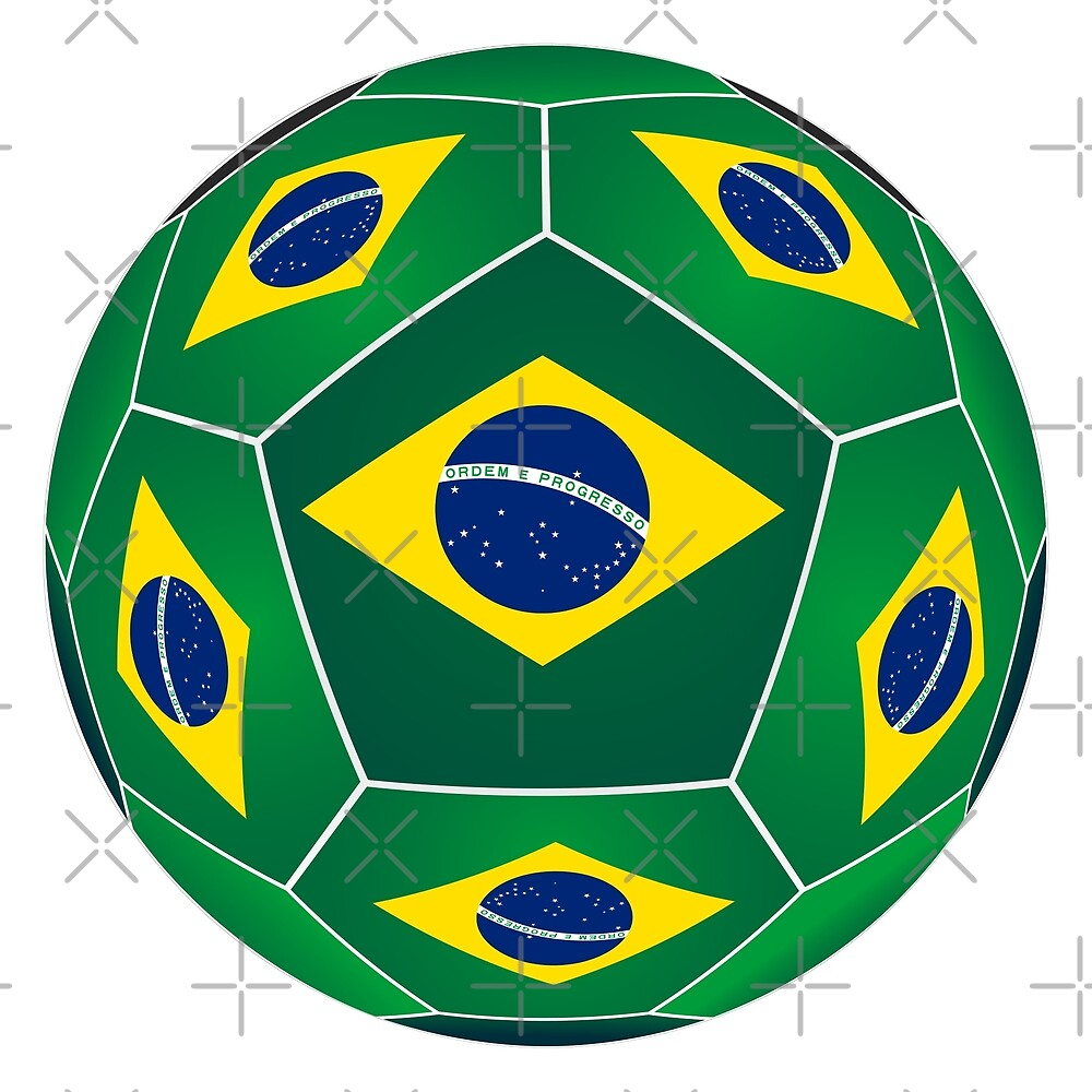 Ball with Brazilian flag by siloto