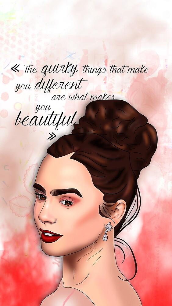 Lily Collins by GraphicallyS