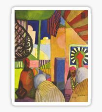 In the bazaar 1914 August Macke Sticker