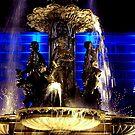 Fountain Lights by Charmiene Maxwell-Batten
