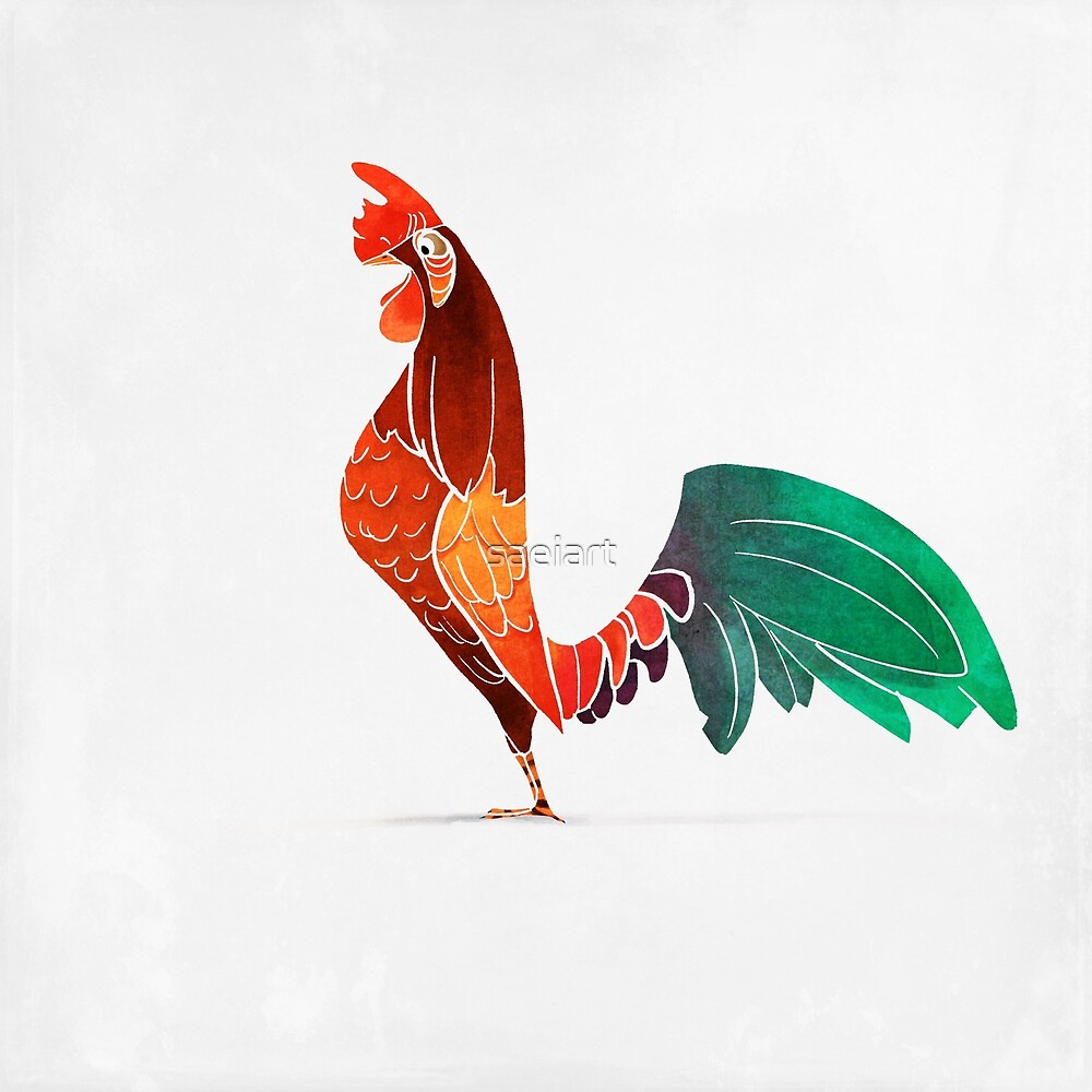 Rooster  by saeiart