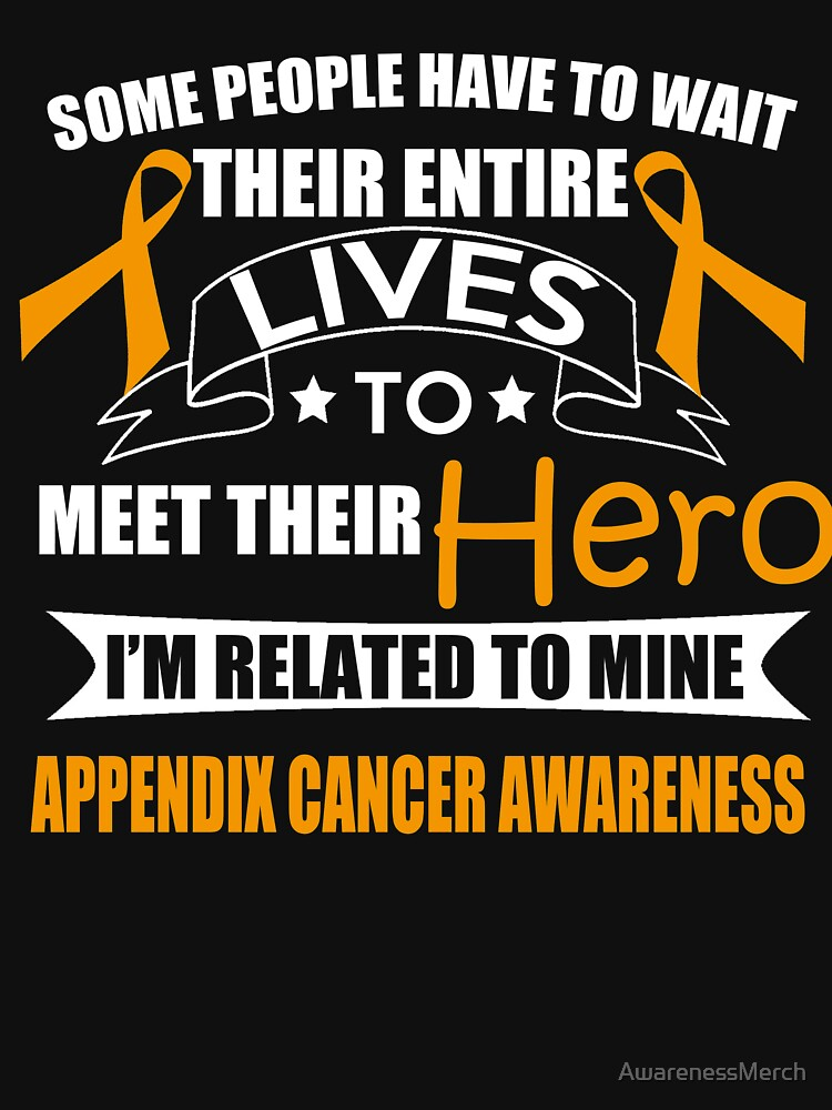 Support Appendix Cancer Awareness Design by AwarenessMerch