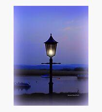 Evening Lamp in Topsham Photographic Print