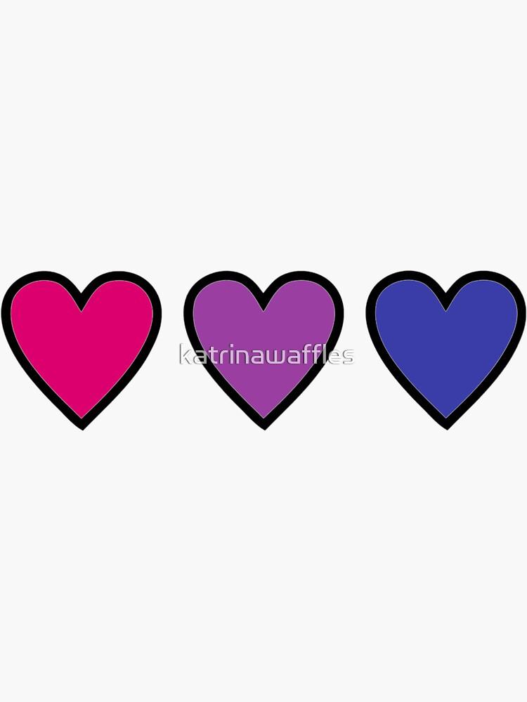 corazones bis bisexuales del orgullo de katrinawaffles