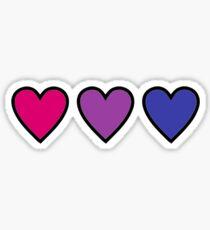 Bisexuelle Stolzherzen Sticker