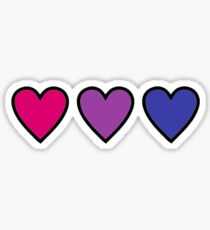 bi bisexual pride hearts Sticker