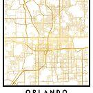 ORLANDO FLORIDA CITY STREET MAP ART by deificusArt