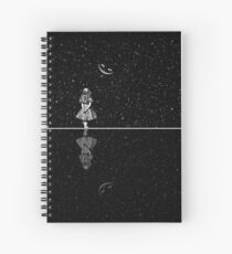 Alice In Wonderland Starry Night Spiral Notebook
