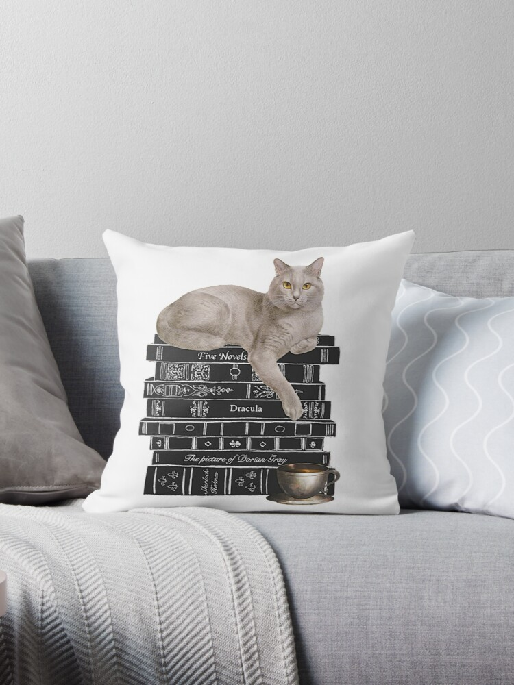 HALLOWEEN DARK LITERATURE CAT TEA COFFIE CUP MUG by serelagatta