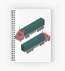 Cargo Transportation. Isometric Truck. Isometric Transportation. Cargo Trailer. Delivery Truck. Logistics Transportation. Mode of Transportation. Cargo Truck. Spiral Notebook