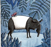 Welcome To The Jungle - Tapir - Schabrackentapir by JunieMond