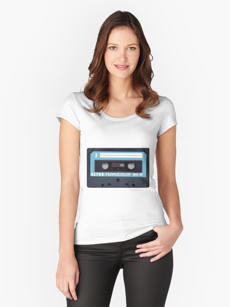Cassette Tape 60 Women's Fitted Scoop T-Shirt Front