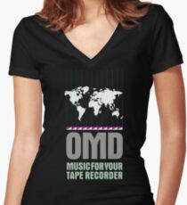 Music for your Tape Recorder OMD Women's Fitted V-Neck T-Shirt