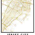 JERSEY CITY NEW JERSEY STREET MAP ART by deificusArt