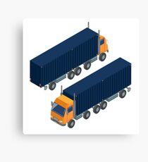 Cargo Transportation. Isometric Truck. Isometric Transportation. Cargo Trailer. Delivery Truck. Logistics Transportation. Mode of Transportation. Cargo Truck.  Canvas Print