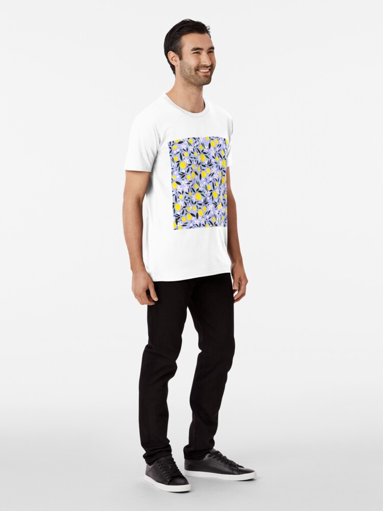 Alternate view of Lemons Blue Premium T-Shirt