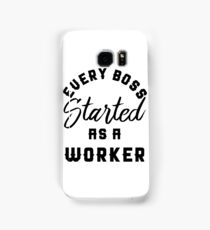 Rick Ross : Every Boss Started As A Worker Samsung Galaxy Case/Skin
