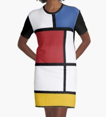 Mondrian #3 Graphic T-Shirt Dress