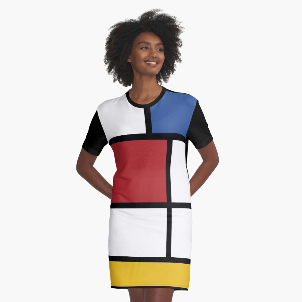 Colour BlockT-shirt Dress 2