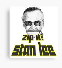 Zip It Stan Lee Canvas Print