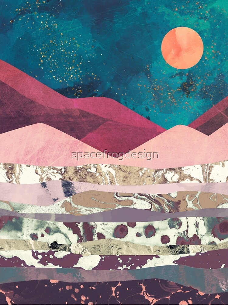 Magenta Mountain by spacefrogdesign